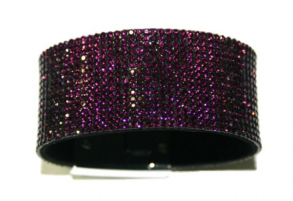Diamante crystal bling cuff bracelet kit - Purple - amethyst -- c4009008kit